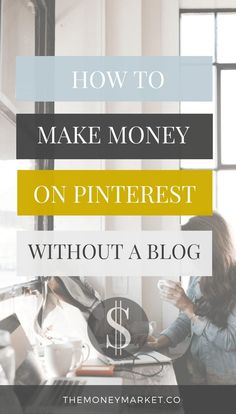 One of the easiest ways to make money online — without having a blog — is by using Pinterest. If you don't own a blog, you may have associated Pinterest with being a place to share recipes, diy projects, or fashion inspiration — but it's so much more.  Learn six strategies to make money on Pinterest in this in-dept post. make money on Pinterest, make mony online, make money from home