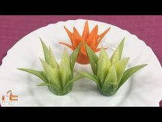 How to Make Carrot Flowers - Vegetable Carving Garnish - Sushi Garnish - Food Decoration - YouTube