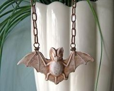 $18 Polymer clay bat necklace by laurelsteven by sharene