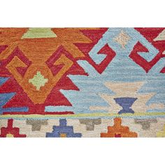 Anchor your living room seating group or define space on the patio with this artfully woven rug, featuring a bold Southwestern-inspired motif for eye-catc...
