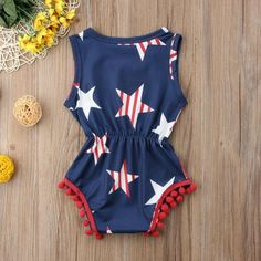 Fourth of July Romper - The Trendy Toddlers