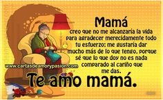 Love You Mom Quotes, Mama Quotes, Mom Quotes From Daughter, Happy Birthday Mother, Happy Mothers Day Wishes, Mothers Day Quotes, Miss You Mom, I Love You Mom, Spanish Inspirational Quotes