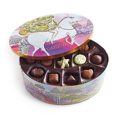 Godiva Chocolatier Limited Edition Lady Godiva Assorted Chocolate and Truffle Keepsake Tin, Chocolate Sweets, Chocolate Gifts, Chocolate Truffles, Chocolate Lovers, Hot Chocolate, Lady Godiva, Gourmet Gifts, Gourmet Recipes, Strawberries Romanoff