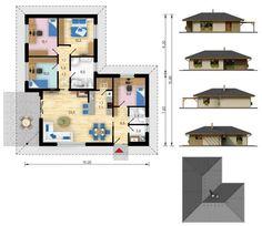 Interiér dřevostavby 5+kk Malorka. http://happybuilding.cz/katalog-drevostaveb/malorka/ Ideální rodinný dům, bungalov od HappyBuilding.