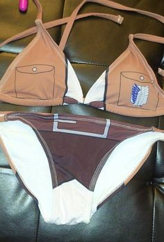 Attack On Titan Cosplay Bikini by TejninsCosCreations on Etsy, $69.99