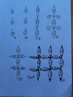 Zentangle tutorial  Zentangle stappen