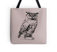 Owl Perched on Tree Branch Tote Bag
