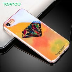 Cool Sky Star Glitter Phone cases For iPhone 6 6S 6plus 6splus 7 7Plus 5 5S SE case coque Diamond Blu-ray soft TPU back cover