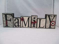 Family Wood Blocks by WickedWoodwork on Etsy, $16.00