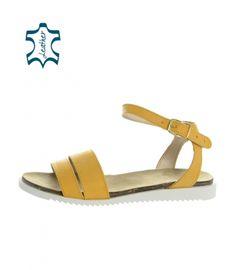 Žlté letné sandále CA162 yellow lico | OLIVIA SHOES