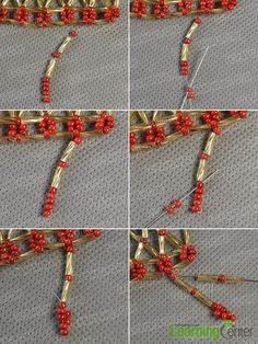 Step 5: Start to make the second beading square strand