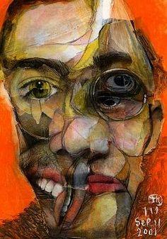 indiesart.com - Takahiro Kimura Painting Inspiration, Psychedelic, Contemporary Art, Illustration Art, Faces, Portrait, Design, Headshot Photography