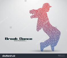 Silhouette Of A Break Dancer From Triangles. Background And Text On A Separate Layer, Color Can Be Changed In One Click. Break Dance Vektorová ilustrace 450613465 : Shutterstock