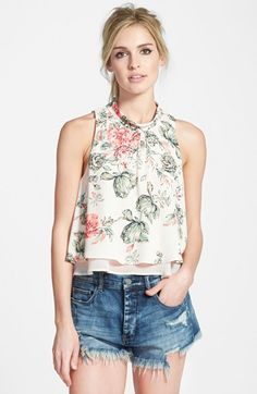 ASTR Mock Neck Layered Tank available at #Nordstrom