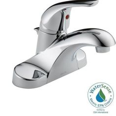 Delta Foundations 4 in. Centerset 1-Handle Bathroom Faucet in Chrome-B510LF-PPU-ECO - The Home Depot