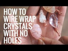 • How To Wire Wrap Crystals and Stones Without Holes • Pendants • Day 6 of 7 - YouTube