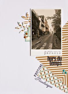 Hors du temps by Armance Scrap Album Photo Scrapbooking, Mixed Media Scrapbooking, Scrapbooking Layouts, Scrapbook Cover, Travel Scrapbook, Scrapbook Cards, Scrapbook Layout Sketches, Scrapbook Supplies, Scrapbook Organization