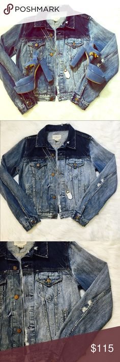 NWOT Distressed Denim Jacket by Ralph Lauren New without tags. Mint condition. Size large. This jacket has a distinctly vintage, worn in feel. The years, pulls and discolorations are intentional and part of the design. There's nothing more American than perfect denim! Retail was $200. Denim & Supply Ralph Lauren Jackets & Coats Jean Jackets