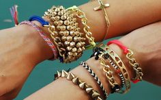 Make chain bracelets with this tutorial.