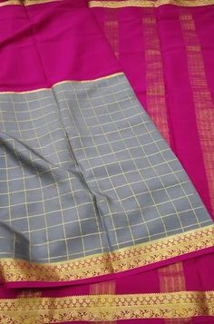 Details Mysore silk saree are world renowned saree. Karnataka, silk is mainly produced in the... Grey Fabric, Silk Fabric, Woven Fabric, Crepe Silk Sarees, Silk Crepe, Mysore Silk Saree, Karnataka, Gray Color, Pure Products