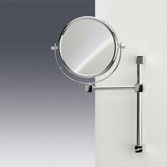 Windisch by Nameeks Double Face Mirrors Modern and Contemporary Magnifying Shaving Mirror Wall Mounted Makeup Mirror, Magnifying Mirror, Mirrors Wayfair, Makeup To Buy, Mirror With Lights, Beautiful Wall, Faucet, Chrome, Arm