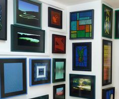 Original .... contemporary .... framed .... ambient art using acrylic, digital photos, stained glass, tissue paper, card and wood by the artist Ivor Meakins at the Enterprise Shopping Centre, http://www.enterprise-centre.org/shop/ivors-art-studio