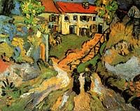 Vincent van Gogh: Village Street and Steps in Auvers with Two Figures. Auvers-sur-Oise: May-June, 1890