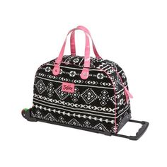 Justice is your one-stop-shop for on-trend styles in tween girls clothing & accessories. Shop our Black and White Southwest Roller Duffle. Girls Luggage, Cute Luggage, Travel Luggage, Justice Accessories, Accessories Shop, Kid Shoes, Girls Shoes, Polka Dot Backpack, Cute Suitcases