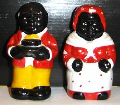 UNCLE MOSES & AUNT JEMIMA HANDPAINTED COLLECTIBLE ART DETAIL SALT & PEPPE SHAKER | eBay