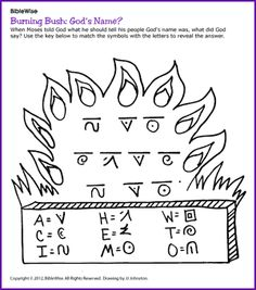Burning Bush God's Name (Puzzle) - Kids Korner - BibleWise