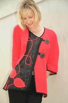 Tivoli appliqué red jacket. 3226r