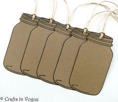 Blank Mason Jar Tags Kraft Tags Gift Tags Favor by CraftsInVogue, $4.25