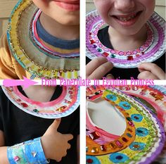 From paper plate to Egyptian Princess necklaces #egyptiancrafts #homeschoolhistory