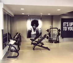 Free weights at TrainMore Club in Utrecht, Holland