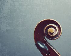 Violin scroll / Abstract photography / fiddle / by LupenGrainne