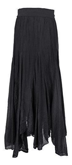 black asymmetric maxi skirt <3