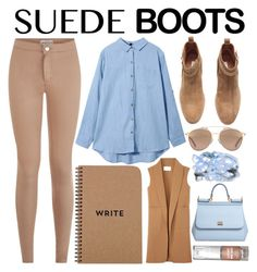 """Style Staple: Suede Boots"" by prettylittleliars69 ❤ liked on Polyvore featuring H&M, Christian Dior, Alexander Wang, Dolce&Gabbana and bybezsmertnaya"