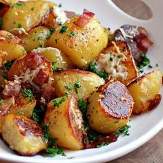 Oven Roasted Potatoes — These rich and flavorful potatoes will melt in your mouth!