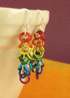 Shaggy Chainmaille Rainbow Earring KIT - Easy and Fun for Beginners or YOU PICK Up To Seven Colors via Etsy