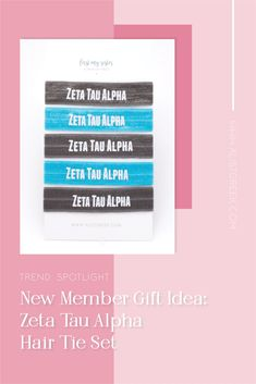 Sorority hair ties are the easiest gift for any celebration: Recruitment, Bid Day, Back to School & Big/Little. Zeta Tau Alpha Gifts | Zeta Tau Alpha Bid Day | ZTA Hair Ties | Zeta Tau Alpha Recruitment | Sorority Bid Day | Sorority Recruitment | Sorority Hair Tie Gifts | Sorority College Gift | Sorority New Member Gift Ideas #BidDayGifts #SororityHairTies College Sorority, Sorority Bid Day, Sorority Recruitment, Gamma Phi Beta, Kappa Alpha Theta, Bid Day Gifts, College Gifts, Let Your Hair Down, Elastic Hair Ties