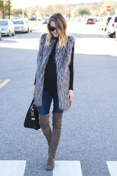Little Blonde Book by Taylor Morgan | A Life and Style Blog : Faux Fur Vest