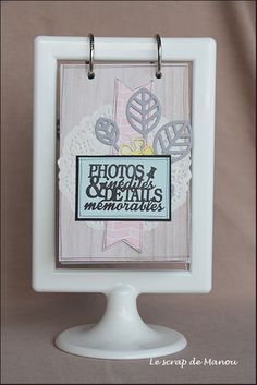 DIY your Christmas gifts this year with 925 sterling silver photo charms from GLAMULET. they are compatible with Pandora bracelets. Le scrap de Manou - avec tuto pour mises en page Ikea Tolsby Frame, Ikea Frames, Crafts To Make And Sell, Diy And Crafts, Paper Crafts, Mini Albums Scrapbook, Diy Scrapbook, Support Photo, Ikea Picture Frame