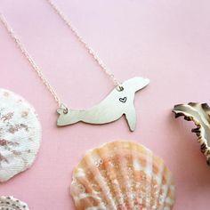 Sea Lion Necklace | Zalophus Californianus | Sea Lion Silhouette | Sea Lion Pendant | Whale Charm