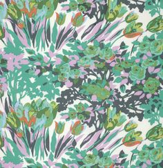 Violette Fabric - Turquoise Meadow Blooms - Amy Butler