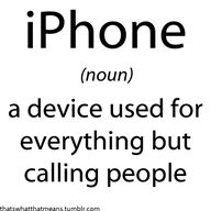 Well, I hate talking to people on the phone. No offense to anyone, I'm just awkward at it.