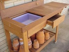 very functional potting bench