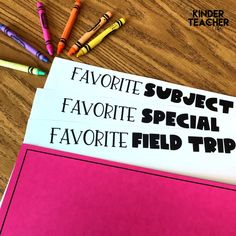We're starting our end of the year memory books this week! 🙌🏾 I love listening and reading my students' favorite first grade experiences. Grab this free memory book from my website. What do you like to do with your students at the end of the year? Money Activities, First Day Of School Activities, First Day School, Kindergarten Activities, Summer Activities, Kindergarten Handwriting, Kindergarten Writing Prompts, Handwriting Activities, Kindergarten Classroom Management