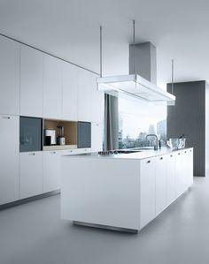 Lacquered linear wooden kitchen KYTON - by @poliformvarenna