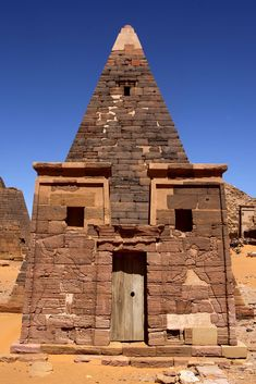 Sudan - The Black Pharaohs - The Meroe Pyramids are located in the North-East of Sudan near the banks of the Nile in the area commonly known as Nubia. There are close to two hundred pyramids in a relatively small area, the ancient burial site of the Merotic Kingdom (sometimes known as the Kingdom of Kush). The Pyramids are smaller than their Egyptian cousins but equally impressive due to their number