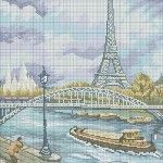 Cross-stitch designs for more popular paintings Just Cross Stitch, Cross Stitch Art, Counted Cross Stitch Patterns, Cross Stitch Designs, Cross Stitching, Cross Stitch Embroidery, Paris, Cross Stitch Landscape, Cross Stitch Pictures